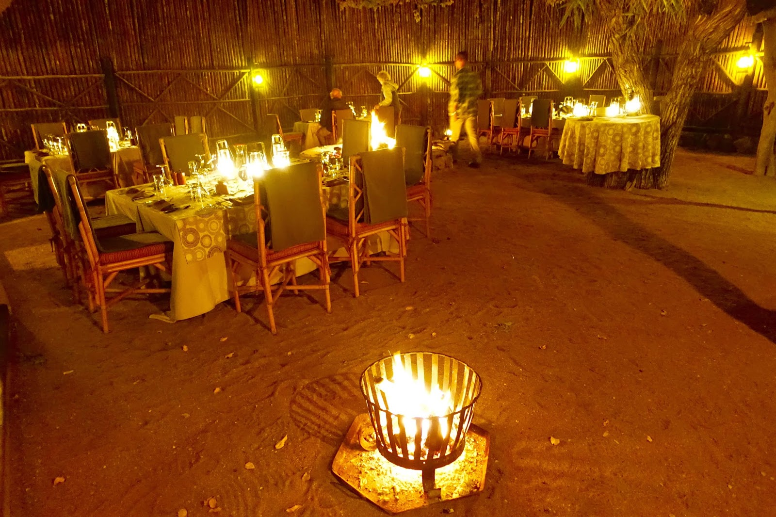 outdoor dining under the african sky