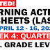 Updated LEARNING ACTIVITY SHEETS (Q3: Week 4) APRIL 12-16, 2021