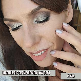 Maquillajes GLAM versión low cost: PLATA