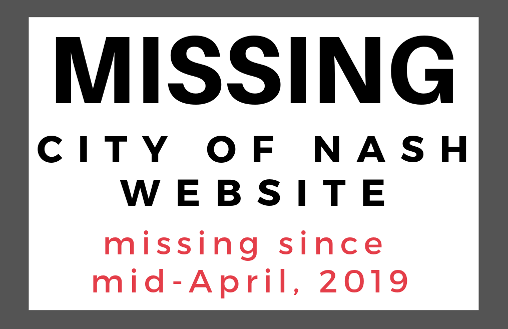 City of Nash website has been down for over a week without explanation