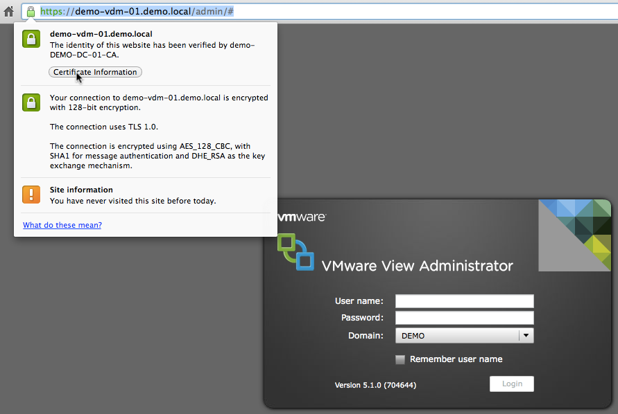 Christopher's Brain Dump: CA Signed Certificates with VMware View