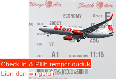 Cara Ceck in Online Lion air dan Wings air