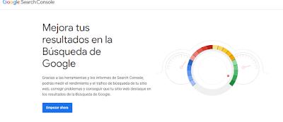 El panel de Google Search Console