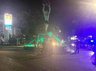 Personil Sat Sabhara Polres Wajo Melaksanakan Patroli Blue Light Guna Mewujudkan Situasi Kamtibmas yang aman dan Kondusif