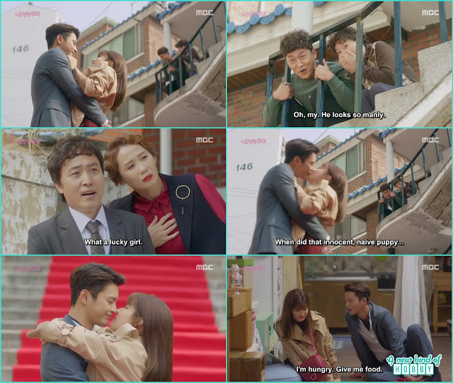 when louis met with his family he come and propose bok shil with a kiss - Shopping King Louis (Kisses) korean Drama