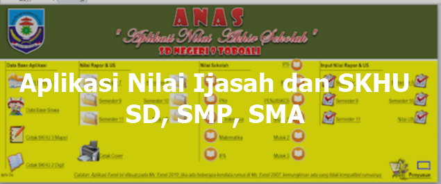 Aplikasi Nilai Ijasah dan SKHU SD, SMP, SMA