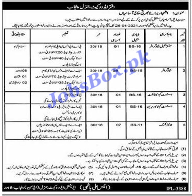 office-of-advocate-general-punjab-jobs-2021-advertisement