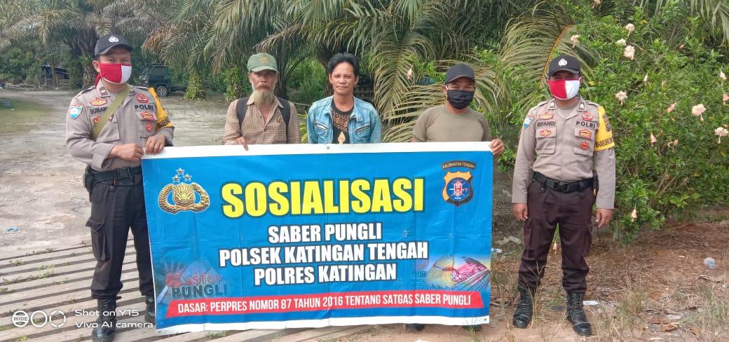 Regu Satu Polsek Katingan Tengah Gencar Sosialisasi Saber Pungli