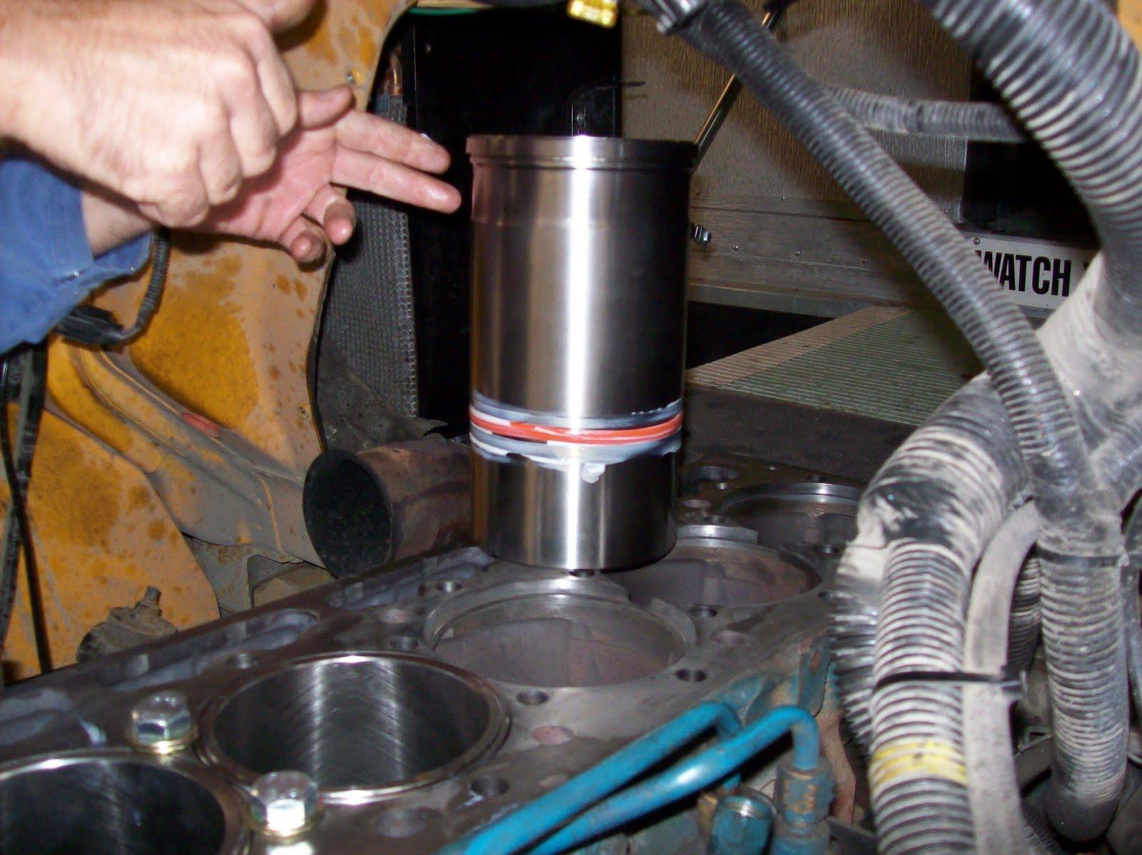 International Diesel Engine Rebuild Installing Liners