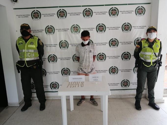 Ofensiva de la Policía del Magdalena contra el microtráfico deja dos 'jibaros' capturados en Fundación