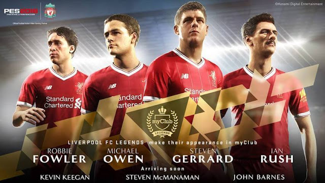 Liverpool Legends & Wales Start Screen PES 2017