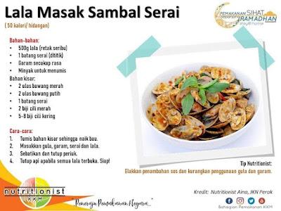 menu berbuka puasa dan sahur simple lala masak sambal