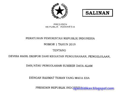 Peraturan Pemerintah Republik Indonesia Nomor 1 Tahun 2019