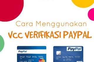 Cara Mudah Menggunakan VCC Verifikasi Paypal 2019