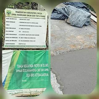 "Kadis PUPR Lingga ""Novrizal ST,""  Bungkam Terkait Proyek Jalan Tanjung Bungsu"
