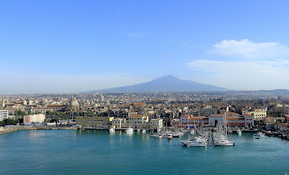 The port city of Catania sits in the shadow of Sicily's active volcano, Mount Etna