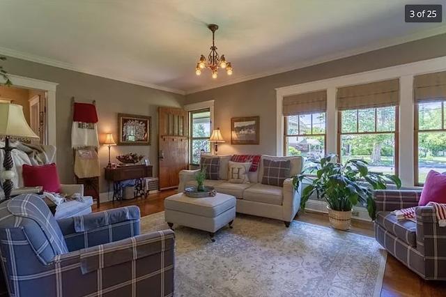 color photo of living room Sears Kilbourne 201 Iola Street Glenshaw Pennsylvania