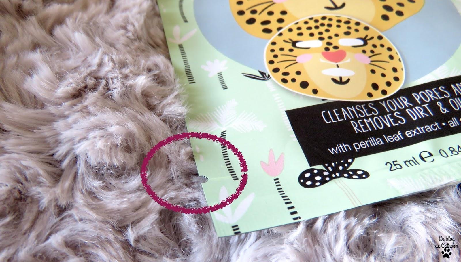 Léopard Face Sheet Mask - Masque en Tissu - Action