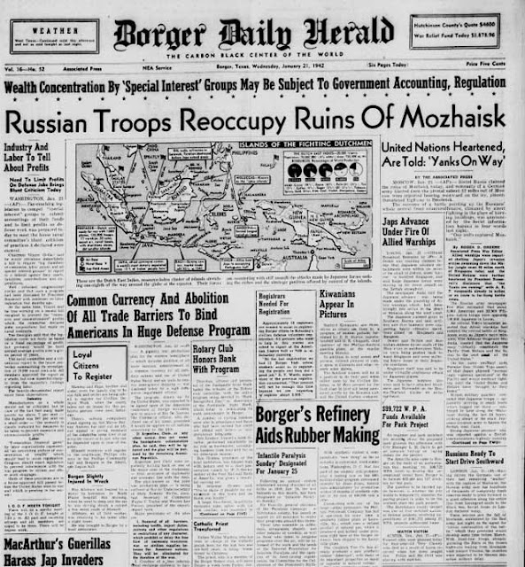 Borger Daily Herald, 21 January 1942 worldwartwo.filminspector.com