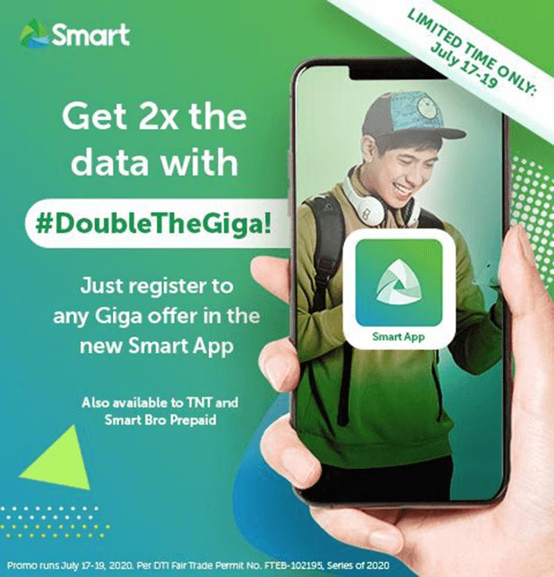 Smart gives double data via Smart App until July 19