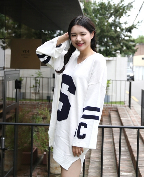 Oversized 6 Pattern Sweater Dress