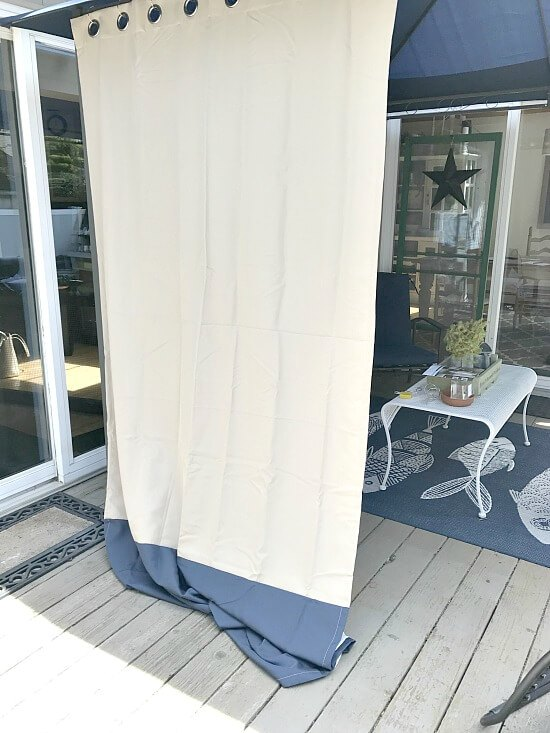 Outdoor gazebo curtain