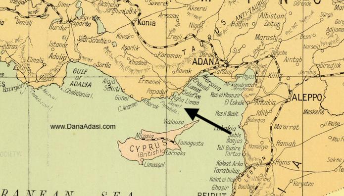 Dana Adası Harita 1918