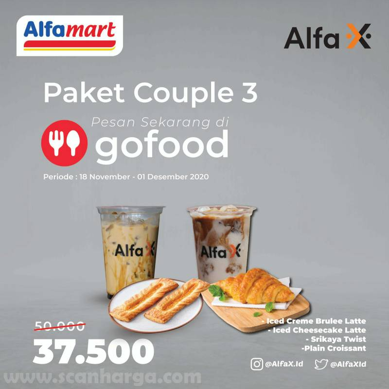 Alfamart / Alfa X Promo Paket Couple harga mulai Rp 31.500 via Gofood
