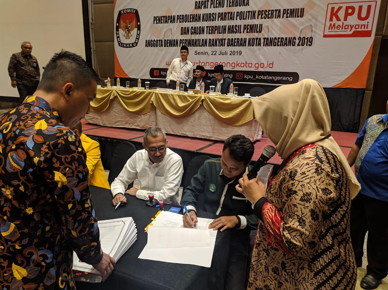 Nama-Nama Anggota DPRD Terpilih Kota Tangerang Hasil Pemilu 2019