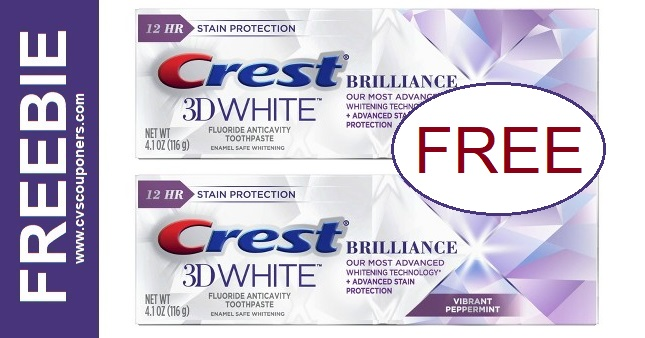 FREE Crest Brilliance Toothpaste CVS Deal 9/6-9/12