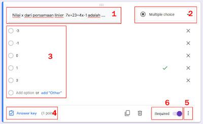pengaturan quize di google form