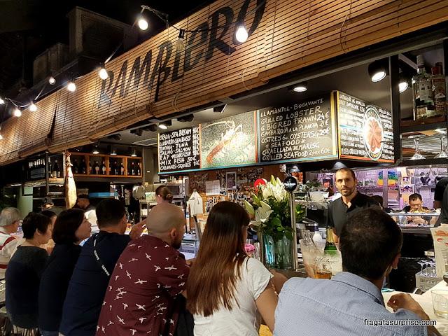 Restaurante El Ramblero de La Boqueria, Mercado da Boqueria, Barcelona