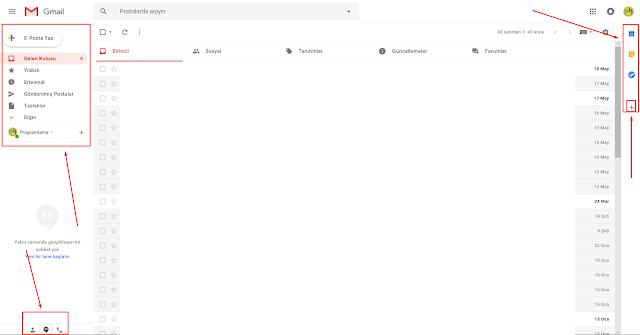 yeni gmail arayüzüne geçiş nasıl olur