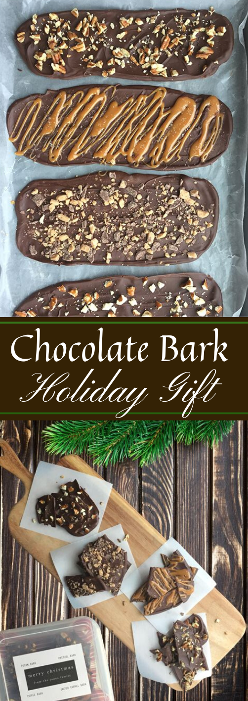 Chocolate Bark Holiday Gift Idea #desserts #pumpkin #chocolate #holiday #bars