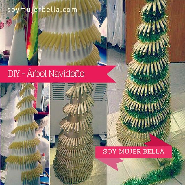 Cómo hacemos un árbol de Navidad con fideos