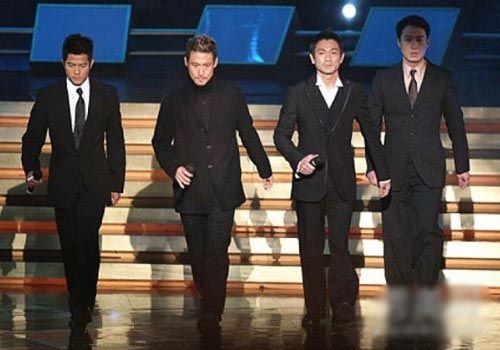 Four Heavenly Kings of Cantopop perform onstage