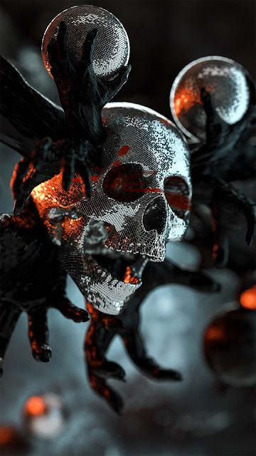 16 Paint Skull, Drips Colorful Art Skull Ultra HD 4K Wallpapers for Android and iPhone
