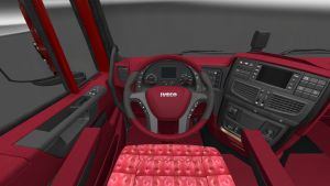 Black & Red interior skin for Iveco Hi-Way