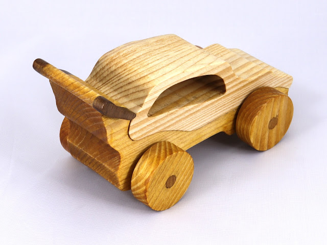 Handmade Wood Toy Car Sports Coupe From The Speedy Wheels Series