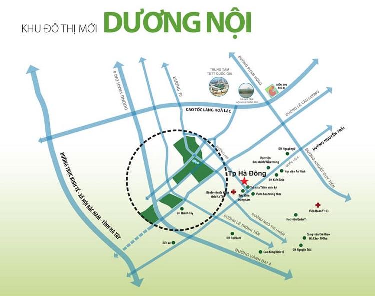 Vị trí Khu đô thị Dương Nội ở đâu