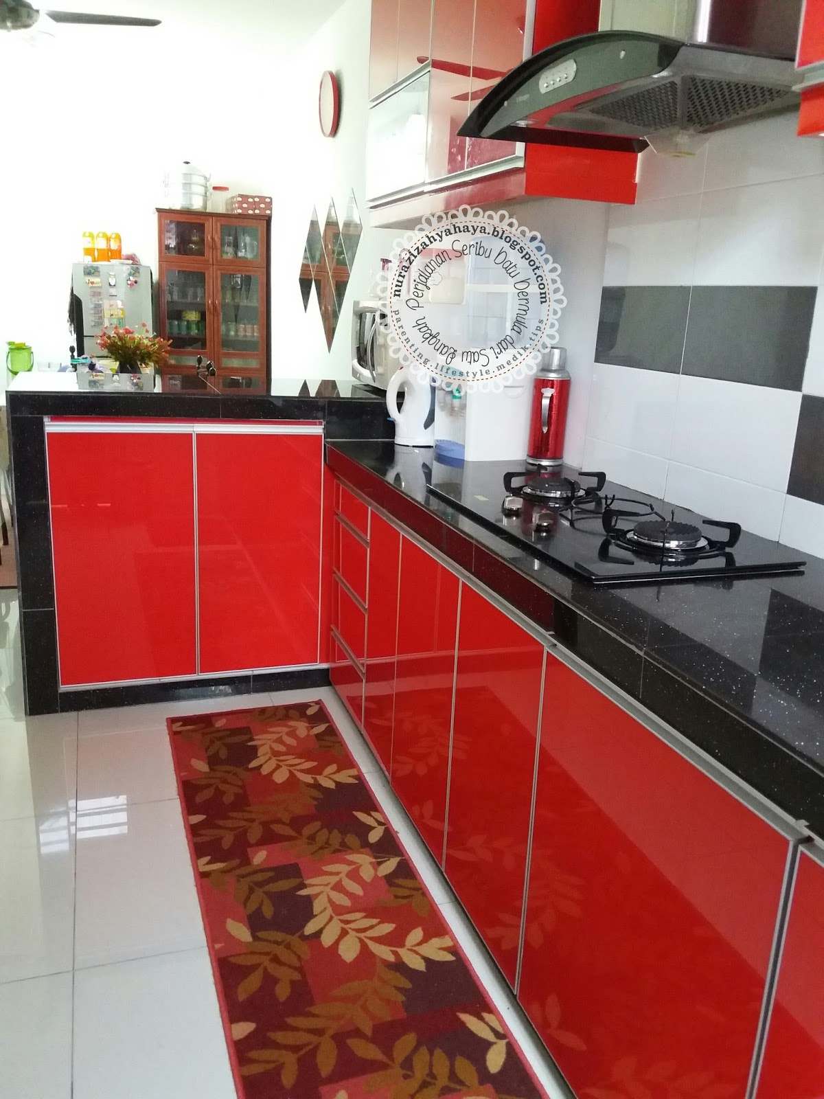 Kabinet Dapur Merah Hitam Desainrumahid