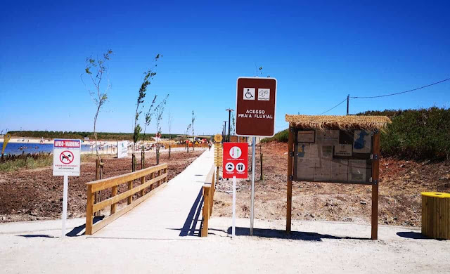 Entrada Praia Fluvial Cinco Reis
