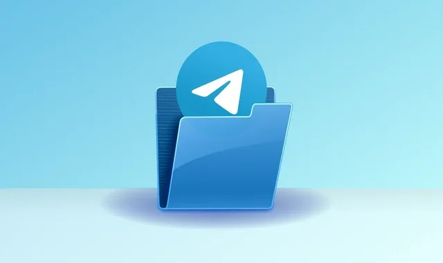 How can you create conversation folders in the Telegram application to organize your conversations?