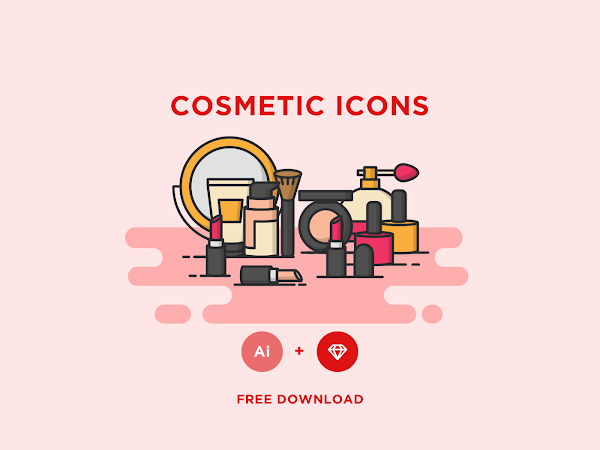 Download Vector COSMETIC ICONS Free