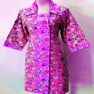 contoh baju batik kantor