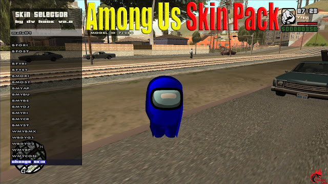 Among Us Skin Pack For GTA San Andreas Pc