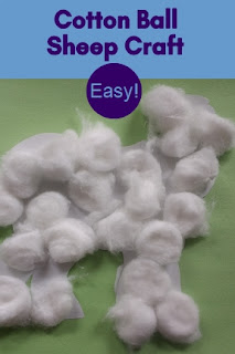 Easy Cotton Ball Sheep Craft