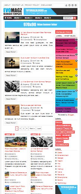 Demo template Evo Magazine