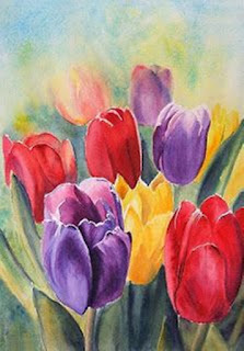 pintura-de-tulipanes-de-varios-colores