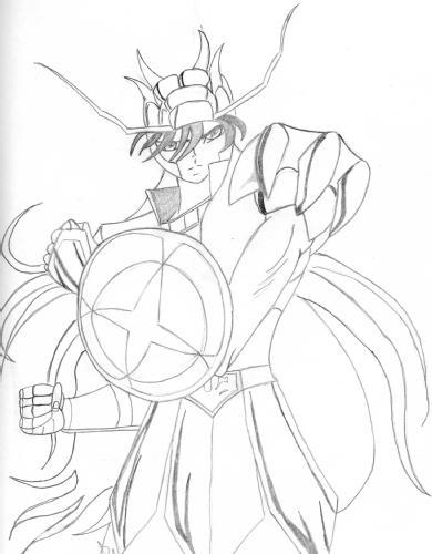 Desenho Dos Cavaleiros Do Zodiaco Para Imprimir